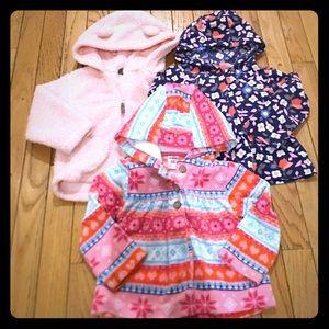 Carter's Toddler Girls Hooded Jacket Bundle Sz 18M